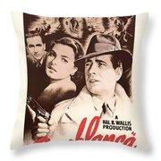 Humphrey Bogard And Ingrid Bergman In Casablanca 1942 Throw Pillow