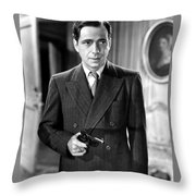 Humphrey Bogart As As Gangster Gloves Donahue All Through The Night 1941 Throw Pillow