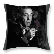 Humphrey Bogart Portrait #2 Circa 1954-2014 Throw Pillow