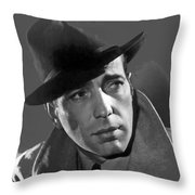 Humphrey Bogart Publicity Portrait Casablabca 1942-2016 Throw Pillow