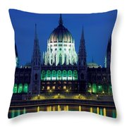 Hungarian Parliament Building Throw Pillow