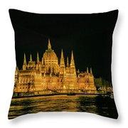 Hungarian Parliament  Throw Pillow