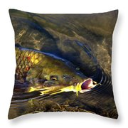 Hungry Carp Throw Pillow