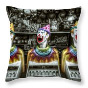 Hungry Clowns Throw Pillow