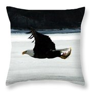 Hungry Eagle Throw Pillow