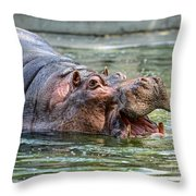 Hungry Hungry Hippo Throw Pillow