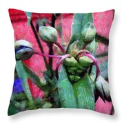 Hungry Mouths Throw Pillow