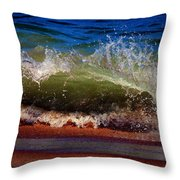 Hungry Wave Of Fenwick Island Throw Pillow