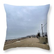 Hunstanton At 4pm Yesterday As The Throw Pillow