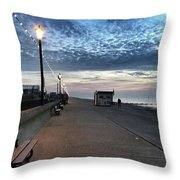 Hunstanton At 5pm Today  #sea #beach Throw Pillow by John Edwards