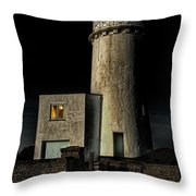 Hunstanton Lighthouse At Night Throw Pillow