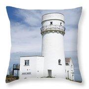 Hunstanton Lighthouse Throw Pillow