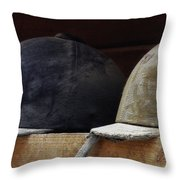 Hunt Caps Throw Pillow