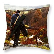 Hunter After The Hunt Throw Pillow