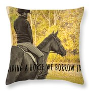 Hunter Art Quote Throw Pillow