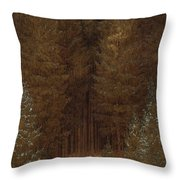 Hunter In The Forest  Throw Pillow