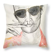 Hunter S. Thompson Throw Pillow