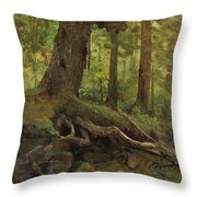 Hunter_in_the_white_mountains_near_glen_house Throw Pillow