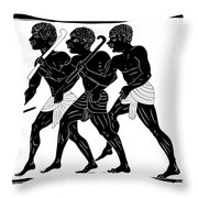 Hunters  Throw Pillow by Michal Boubin