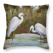 Hunting For Prey Throw Pillow