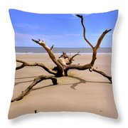 Hunting Island Beach Beaufort Sc Throw Pillow