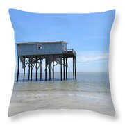 Hunting Island Beach House Throw Pillow