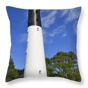 Hunting Island Lighthouse South Carolina Throw Pillow