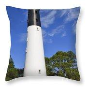 Hunting Island Lighthouse South Carolina Throw Pillow