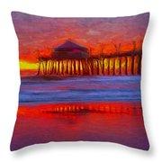 Huntington Beach Throw Pillow