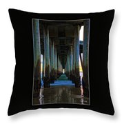 Huntington Beach Pier 2 Throw Pillow