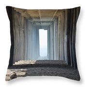 Huntington Beach Pier Throw Pillow