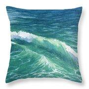 Huntington Small Waves  Throw Pillow