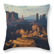 Hunt's Mesa View 7602 Throw Pillow