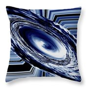 Hurricane In Space Abstract Throw Pillow
