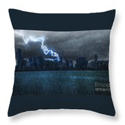 Hurricane Irma Florida  Throw Pillow