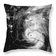 Hurricane Irma Infrared Throw Pillow