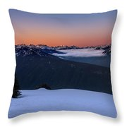Hurricane Ridge At Sunrise In Olympic National Park Washington Throw Pillow