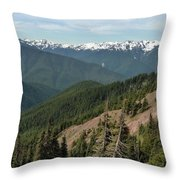 Hurricane Ridge View Throw Pillow