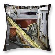 Husavik Boats Iceland 3741 Throw Pillow