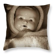 Hush Hush Throw Pillow