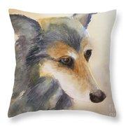 Husky Mix Throw Pillow