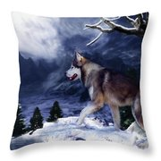 Husky - Mountain Spirit Throw Pillow