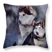Husky - Night Spirit Throw Pillow