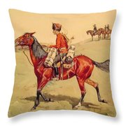 Hussar Russian Guard Corps Throw Pillow