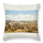 Hussars At The Battle Throw Pillow
