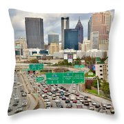 Hustle And Bustle On The Highways And Byways Throw Pillow
