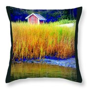 A Tiny Little Hut For Tiny Little People Throw Pillow