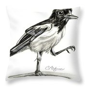 Hut Two Three Four Throw Pillow