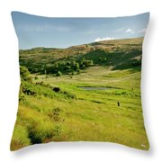 Hutton's Bog View. Holyrood Park. Throw Pillow
