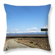 Hwy 142 Heading To San Luis Throw Pillow